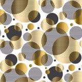 Abstrakt cirkel texturerat repeatable motiv för geometri Arkivfoton