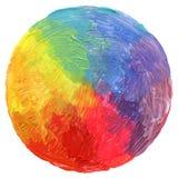 Abstrakt cirkelakryl och vattenfärg målad bakgrund Royaltyfria Bilder