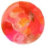 Abstrakt cirkelakryl och vattenfärgbakgrund Royaltyfria Foton