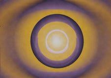 Abstrakt cirkelbakgrund, ljus i utrymme Arkivbild