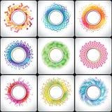 Abstrakt cirkelbeståndsdel för medicinskt laboratorium Royaltyfria Bilder