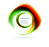 Abstrakt cirkelblue för vektor. kurva royaltyfri illustrationer