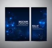 Abstrakt cirkelbokeh Mallen för broschyraffärsdesignen eller rullar upp Fotografering för Bildbyråer