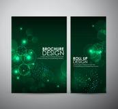 Abstrakt cirkelbokeh Mallen för broschyraffärsdesignen eller rullar upp Arkivbilder