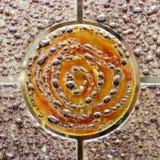 abstrakt cirkelexponeringsglas Arkivfoto
