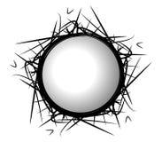 abstrakt cirkelgrungelogo Arkivfoto