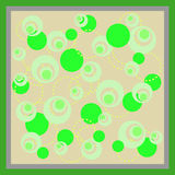 Abstrakt cirkelmodell med grön färg Stock Illustrationer