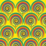 Abstrakt cirkelmodelldesign i grungestil stock illustrationer