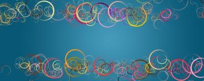 Abstrakt cirkelpanoramadesign Royaltyfri Bild