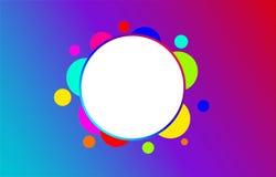 Abstrakt cirkelvektorbakgrund, modern design, härligt begrepp, färgrik cirkel, den bästa designen vektor illustrationer