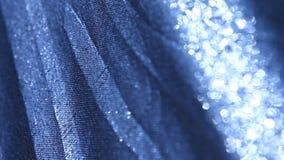 Abstrakt closeup för silvertorkduketextur lager videofilmer