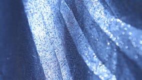Abstrakt closeup för silvertorkduketextur stock video