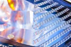Abstrakt Closeup för ytterlighet av medelindikatorlampan Royaltyfria Foton