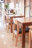 Abstrakt coffee shopinre för bakgrund Royaltyfria Bilder