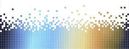 Abstrakt colurful mosaikbakgrund-pixelated i blått och brunt Royaltyfria Bilder
