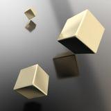 Abstrakt copyspacebakgrund av kuber ovanför yttersida stock illustrationer