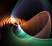 abstrakt crinkleventilator Arkivfoto