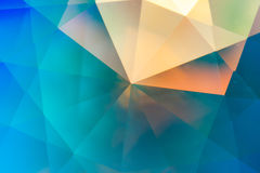 Abstrakt crystal refraktionbakgrund Royaltyfri Fotografi