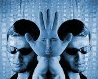 abstrakt cyberdesign Arkivfoton