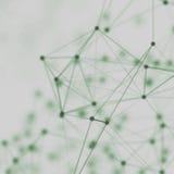 Abstrakt cybernetic partikelbakgrund Bakgrund för Plexusfantasiteknologi illustration 3d dator frambragd head mantråd Arkivbild