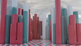 Abstrakt cylindertorn Royaltyfri Bild