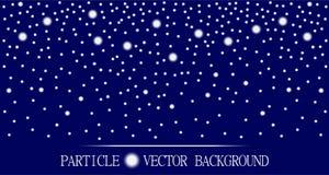 Abstrakt cząsteczek spada śnieżny zmrok - błękitny tło royalty ilustracja