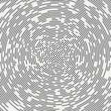 Abstrakt członujący geometryczny okręgu kształt Promieniowi koncentryczni okręgi pierścienie Swirly koncentryczni członujący okrę ilustracji