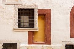 Abstrakt dörröppning arkivfoto
