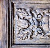 Abstrakt dörrträ i det bruna Spanienet Fotografering för Bildbyråer