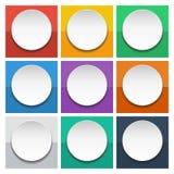 Abstrakt 3d cirklar informationsdiagram för orienteringen för arbetsflöde, diagrammet, nummeralternativ, rengöringsdukdesign Arkivfoton