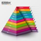 Abstrakt 3D cyfrowy biznesowy Infographic Obraz Royalty Free