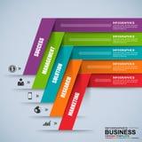 Abstrakt 3D cyfrowy biznesowy Infographic Zdjęcia Royalty Free