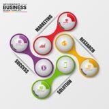 Abstrakt 3D cyfrowy biznesowy marketingowy Infographic Fotografia Royalty Free