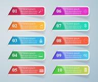 Abstrakt 3D cyfrowy ilustracyjny Infographic Fotografia Stock