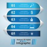 Abstrakt 3D cyfrowy ilustracyjny Infographic Zdjęcia Stock