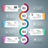 Abstrakt 3D cyfrowy ilustracyjny Infographic Obrazy Stock