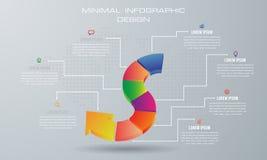 Abstrakt 3D cyfrowy ilustracyjny Infographic ilustracja wektor