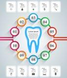 Abstrakt 3D cyfrowy ilustracyjny Infographic Ząb ikona Zdjęcie Stock