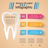 Abstrakt 3D cyfrowy ilustracyjny Infographic Ząb ikona Zdjęcia Royalty Free
