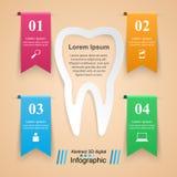 Abstrakt 3D cyfrowy ilustracyjny Infographic Ząb ikona Zdjęcia Stock