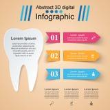 Abstrakt 3D cyfrowy ilustracyjny Infographic Ząb ikona Zdjęcie Royalty Free