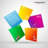 Abstrakt 3D digital illustration Infographic Vektorillustrationen kan användas för workfloworientering, diagram, numrerar Arkivfoto