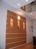 Abstrakt 3d framförde inomhus utrymme Royaltyfri Foto