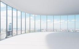 Abstrakt 3d framförde inomhus utrymme Arkivbilder