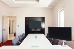 Abstrakt 3d framförde inomhus utrymme Royaltyfri Fotografi
