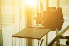 Abstrakt 3d framförde inomhus utrymme Arkivfoton