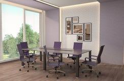 Abstrakt 3d framförde inomhus utrymme illustration 3d Royaltyfria Bilder