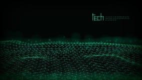 Abstrakt 3D futuristiska Dots And Lines Techno Structure vektor illustrationer