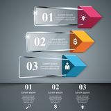 Abstrakt 3D glass illustration Infographic vektor illustrationer