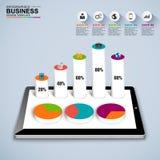 Abstrakt 3D isometric biznesowy Infographic royalty ilustracja